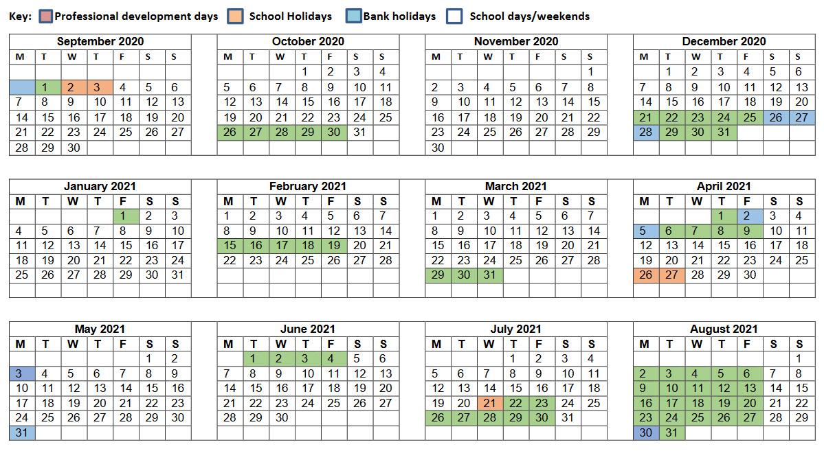 Term Calendar 2020/2021